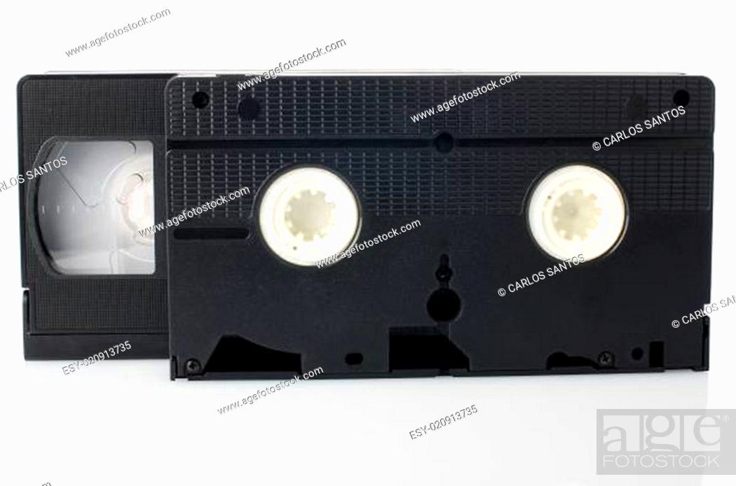 Stock Photo: Old VHS Video tapes.