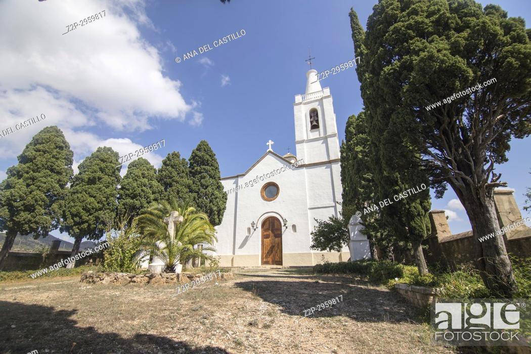 Stock Photo: Beniarres village, Alicante province, Spain The Sanctuary.