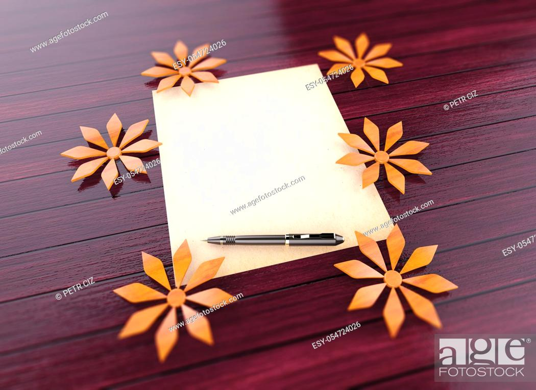 Stock Photo: Blank Romantic Letter Paper - A place for your text.