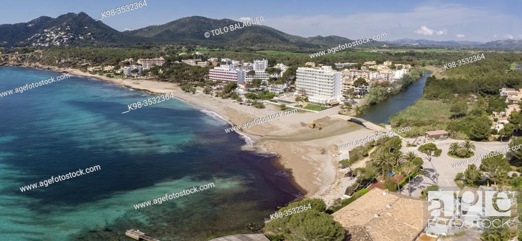 Stock Photo: Canyamel, municipality of Capdepera, Mallorca, Balearic Islands, Spain. Image taken during the Covid-19 pandemic lockdown.