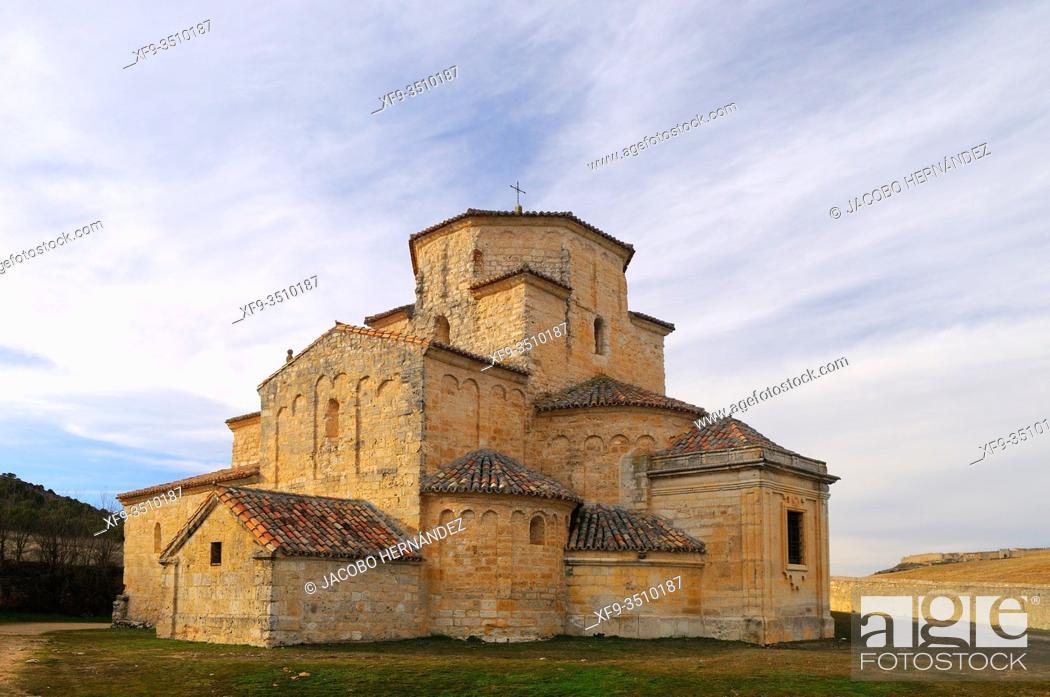 Stock Photo: Romanesque church of La Anunciada. Urueña. Valladolid province. Castilla y León. Spain.