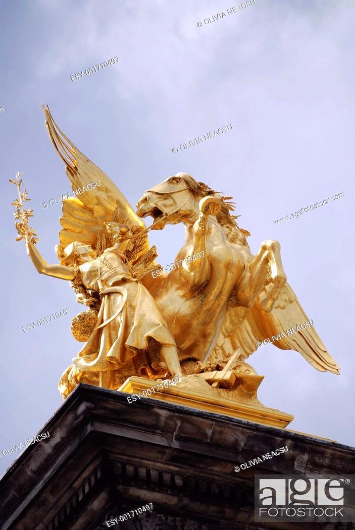 Stock Photo: golden statue2.