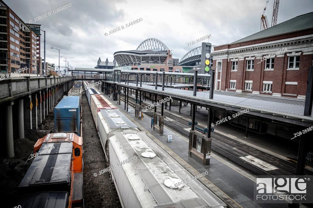 Stock Photo: Seattle Trains, Washington state.