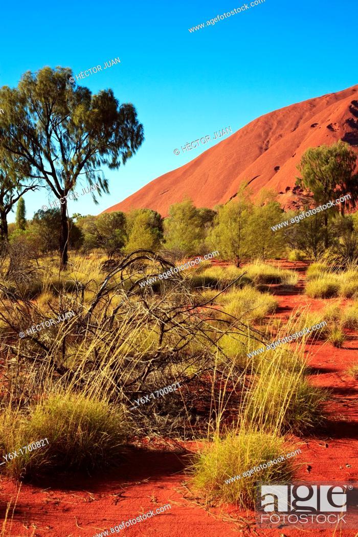 Stock Photo: Uluru detail.