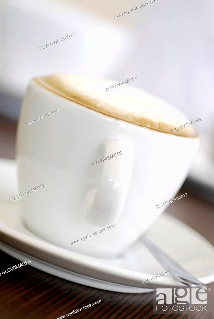 Stock Photo: Close-up of a cup of coffee.
