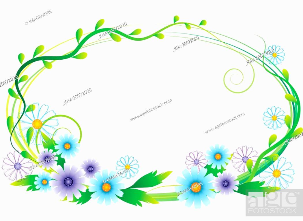 Stock Photo: Illustration and painting of floral patterns.