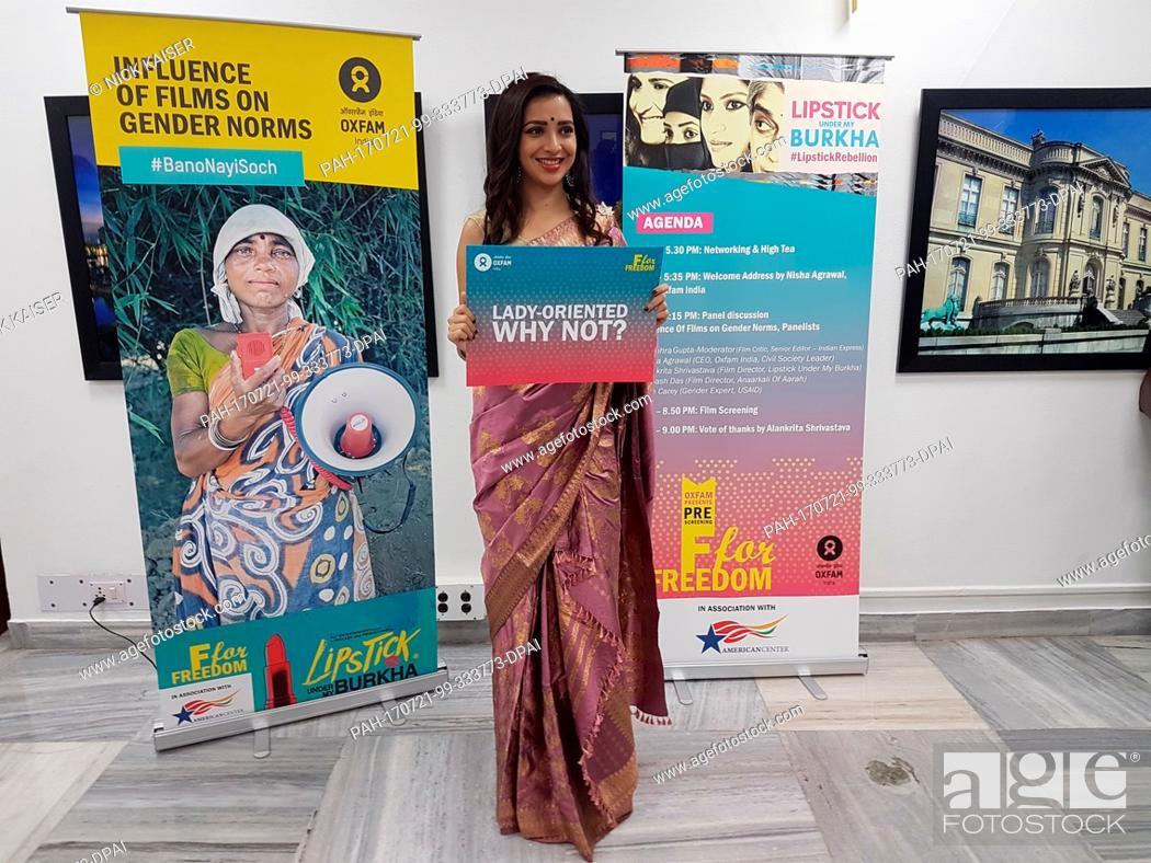 The Indian Actress Plabita Borthakur Poses During An Event Of