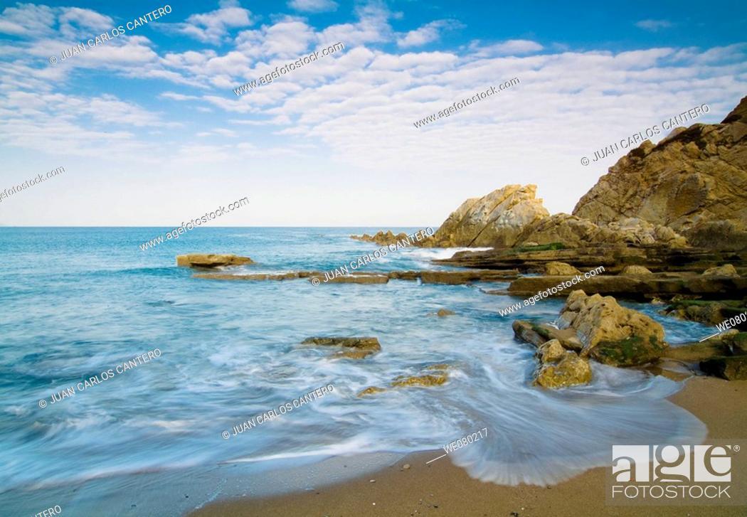 Stock Photo: Azkorri beach. Biscay, Euskadi, Spain.