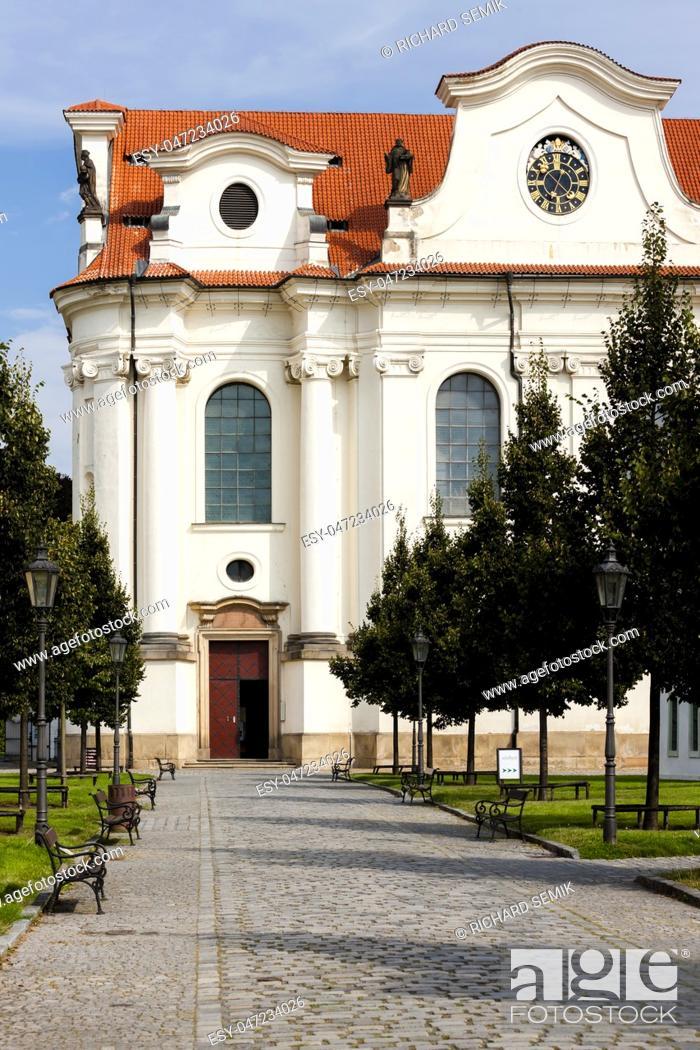 Stock Photo: Brevnov Monastery, Prague, Czech Republic.