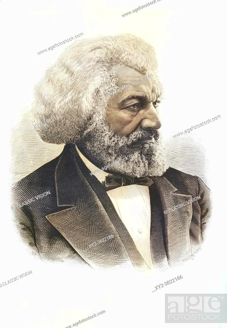 Stock Photo: Frederick Douglass, 1818 1895. African-American, who was born a slave, escaped, and became an abolitionist, author and statesman.