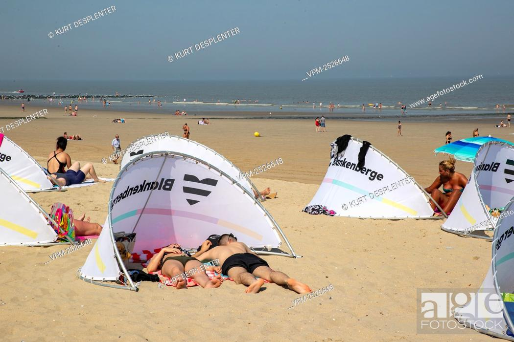 Imagen: Illustration picture shows the beach, in Blankenberge, Sunday 09 August 2020. After Yesterday's massive fight at the beach.