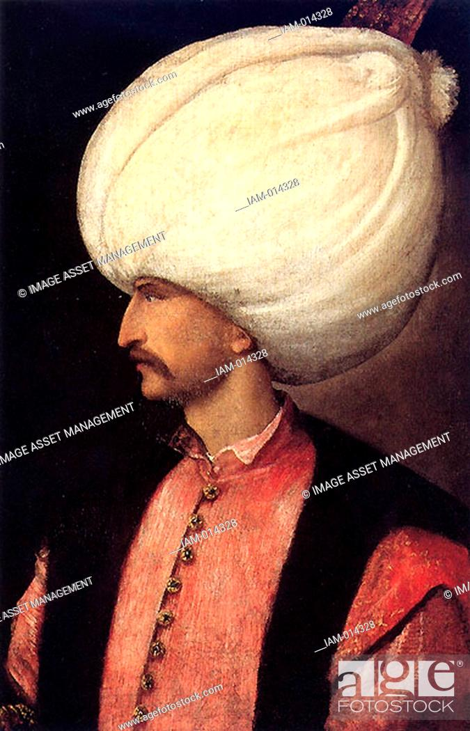 Stock Photo: Suleiman I 1494-1566 Sultan of the Ottoman Empire from 1520, known in the West as Suleiman the Magnificent and in the East as the Lawmaker.