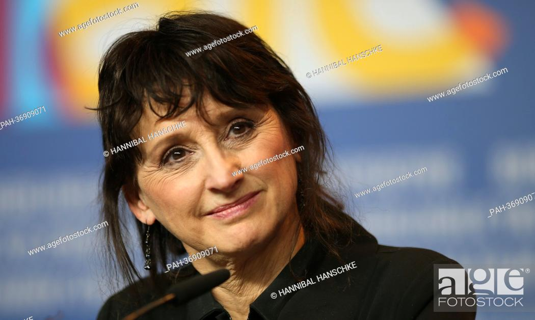 Stock Photo: Canadian actress Pierrette Robitaille attends the press conference for the movie 'Vic+Flo Saw a Bear' ('Vic+Flo ont vu un ours') during the 63rd annual Berlin.