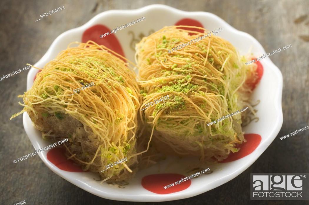 Stock Photo: Kadayif Shredded pastry dessert, Turkey.