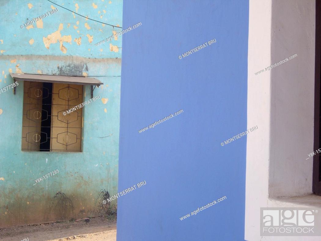 Stock Photo: Fontainhas Blue.