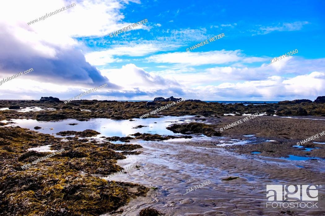 Stock Photo: Seal Beach of Ytri Tunga, Snaefellsnes peninsula, Iceland.