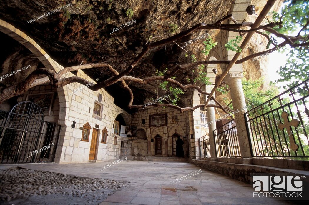 Stock Photo: Convent of St. Thecla (Deir Mar Takla), Maaloula, or Ma'lula, Syria.