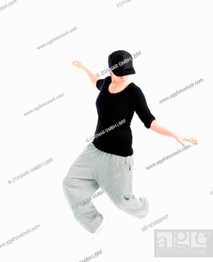 Stock Photo: modern style dancer posing.