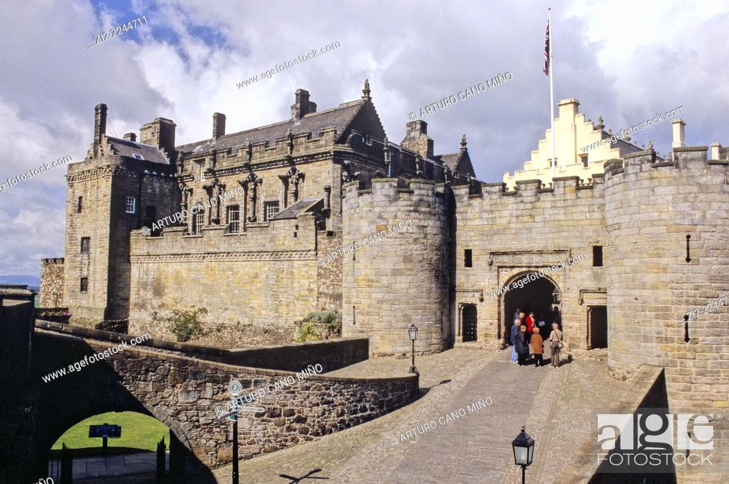 Stock Photo: Castle, XV-XVIth centuries. Stirling, Scotland, United Kingdom.