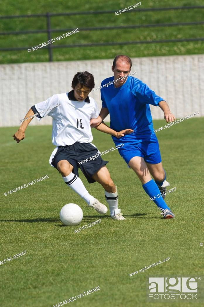 Stock Photo: Soccer Player Protecting the Ball.
