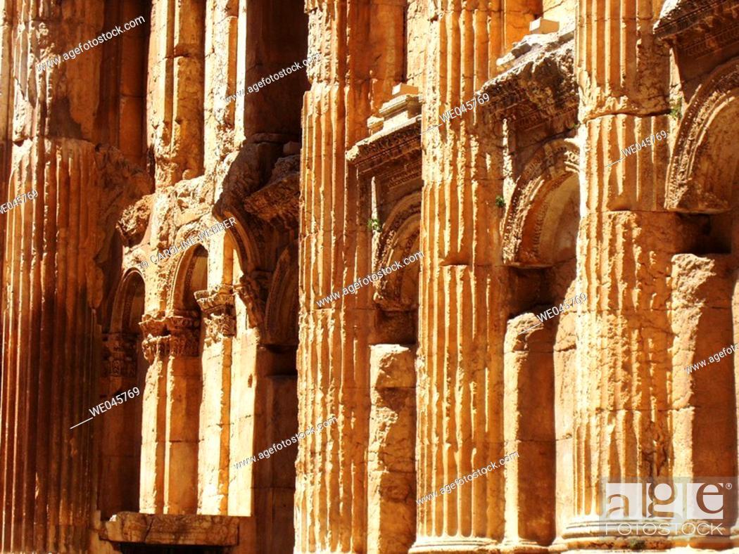 Stock Photo: inside Temple of Jupiter, Baalbek, Lebanon.
