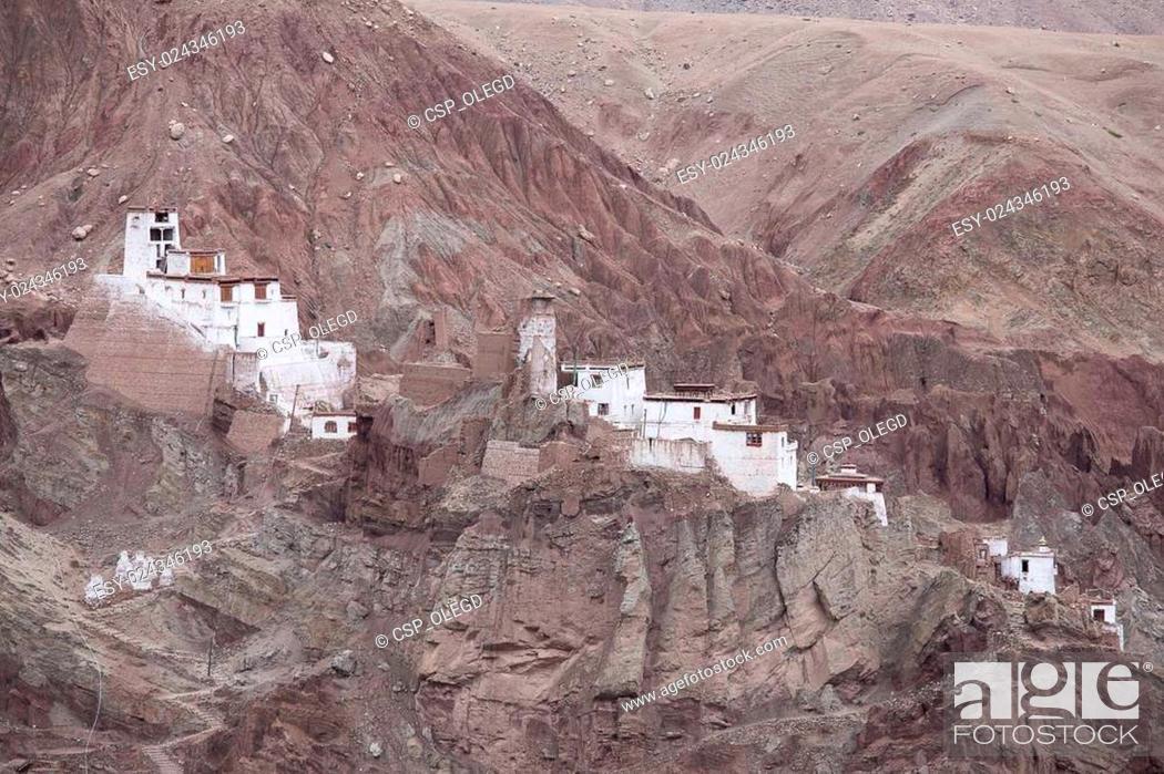 Stock Photo: Basgo Monastery is a Buddhist monastery in Basgo, Ladakh, India ,.
