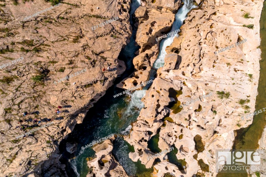 Stock Photo: birdview of a waterfall.