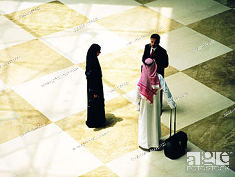Stock Photo: Arab businesspeople.