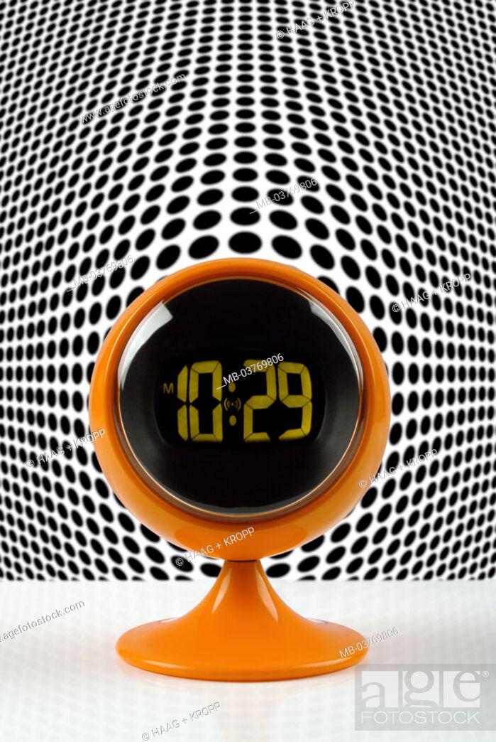 Alarm Clocks Retro Design Background Patterns Black And White