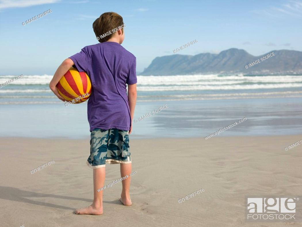 Stock Photo: Boy by the sea.