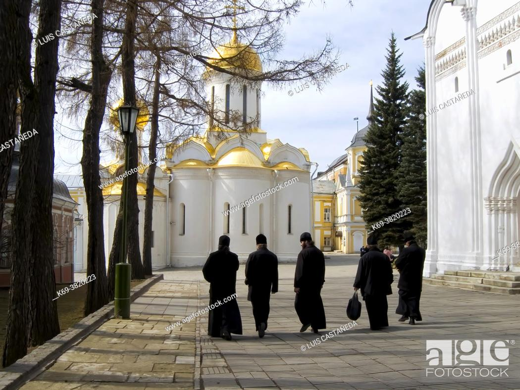 Stock Photo: The Trinity Monastery of St. Sergius. . Lavra (Moscow) Russian Federation.