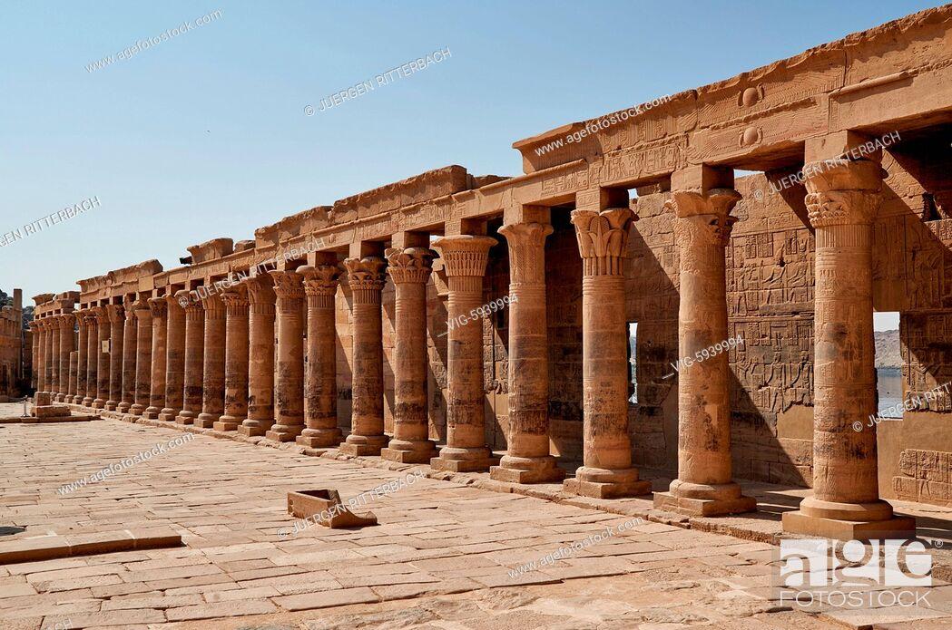 Imagen: EGYPT, ASWAN, 10.11.2016, ptolemaic temple of Philae, Aswan, Egypt, Africa - Aswan, Egypt, 10/11/2016.