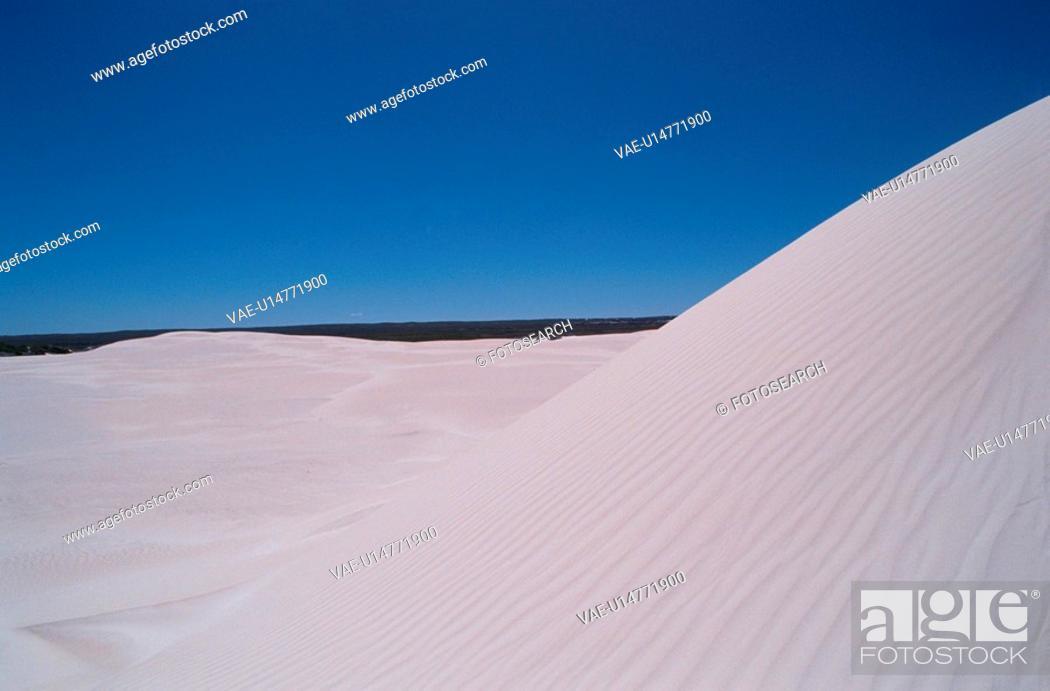 Stock Photo: White Sand Dune.