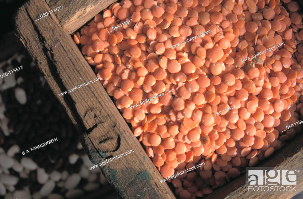 Stock Photo: Red lentils.