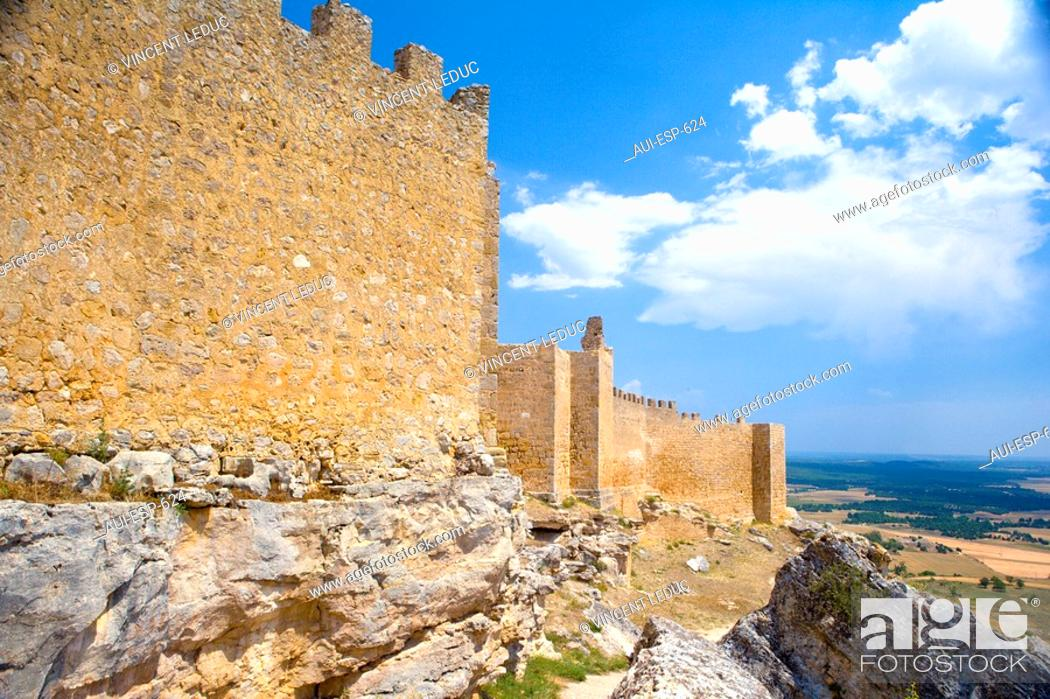 Stock Photo: Spain - Castile and Leon - Province of Soria - The route of the Cid - Castle of Gormaz.