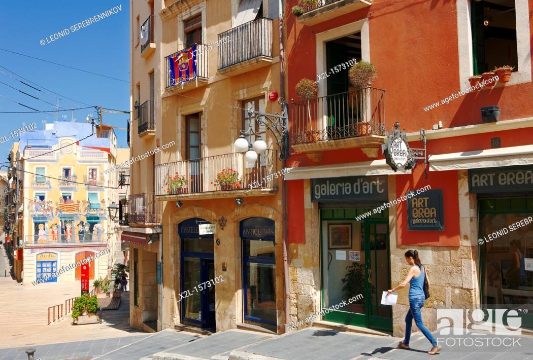 Stock Photo: Old town  Tarragona, Catalonia, Spain.