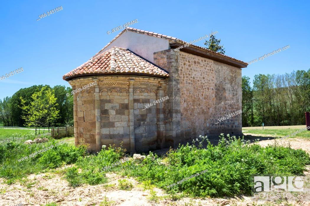 Imagen: Ermita románica de San Pelayo, 11th Century, Perazancas de Ojeda, Province of Palencia, Castile-Leon, Spain.