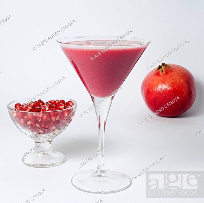 Stock Photo: pomegranate smoothie.