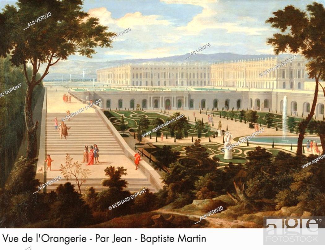 Stock Photo: Palace of Versailles - Vue de l'Orangerie - Par Jean-Baptiste Martin.
