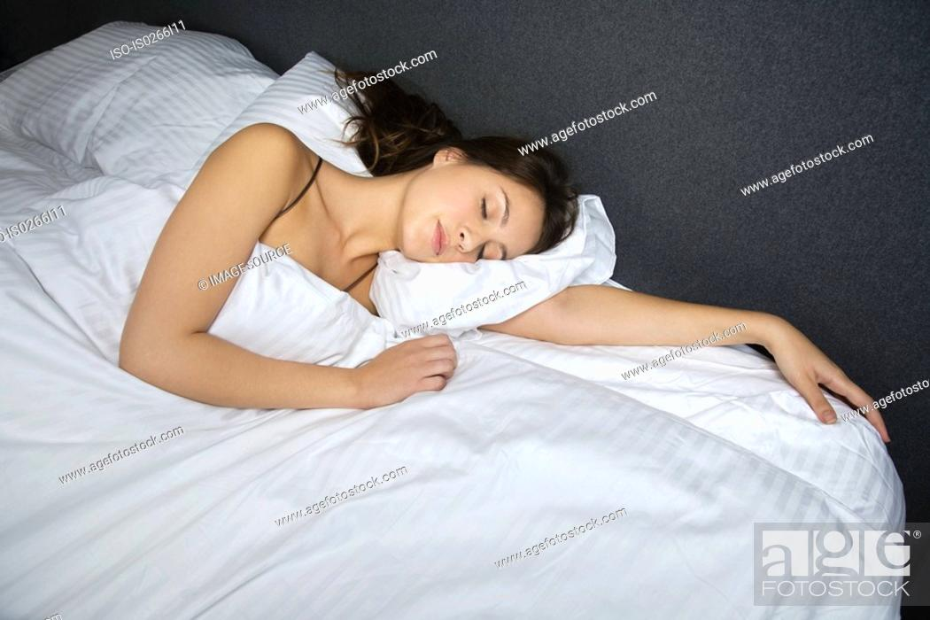 Stock Photo: A woman sleeping.
