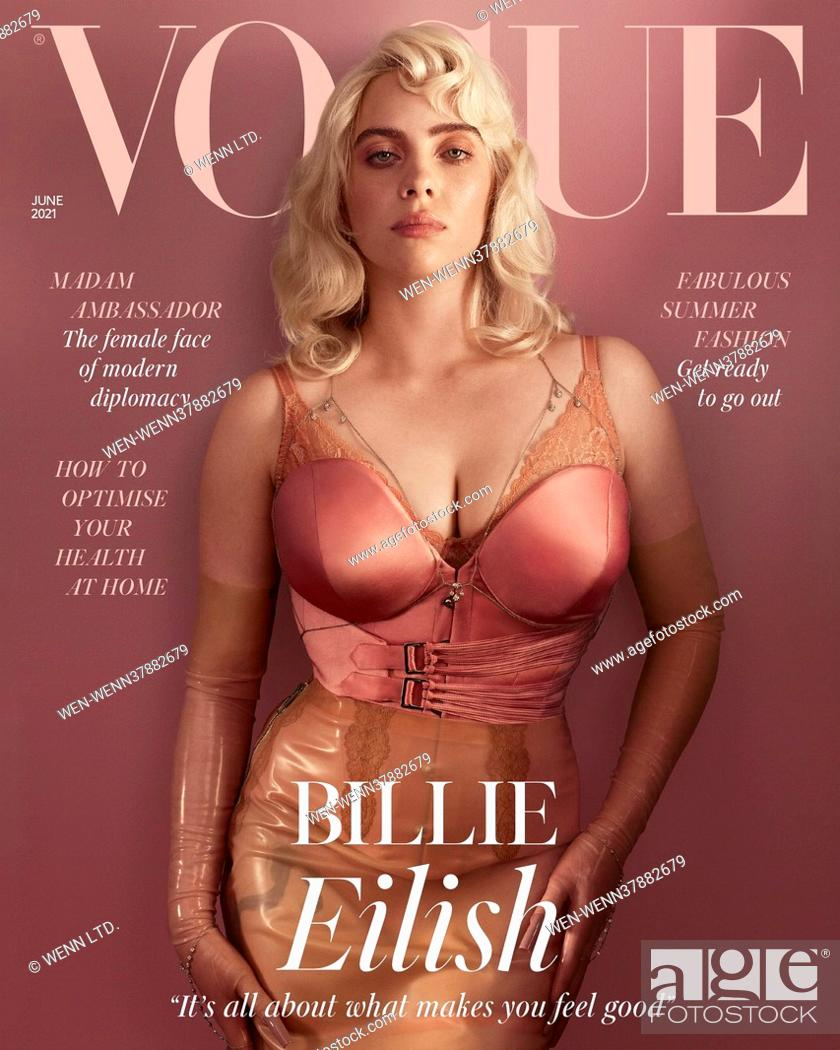Stock Photo: American singer Billie Eilish graces the cover of Vogue June 2021 Featuring: Billie Eilish Where: United Sates When: 04 May 2021 **WENN does not claim any.