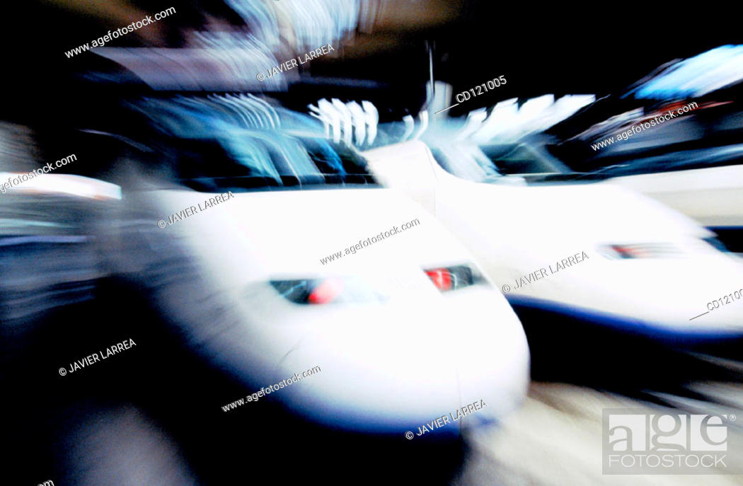 Stock Photo: AVE (High speed train). Madrid. Spain.