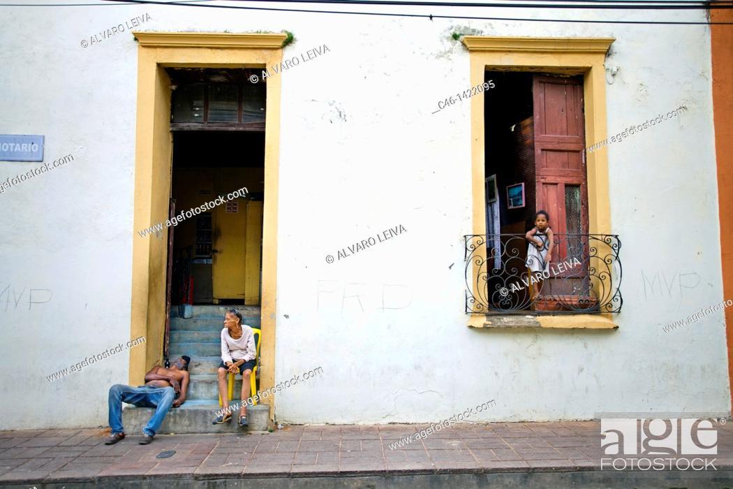 Stock Photo: Colonial house, Santo Domingo, Dominican Republic, West Indies, Caribbean.
