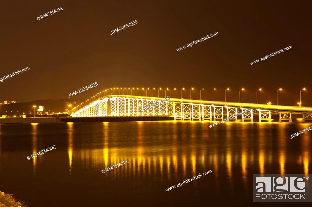 Stock Photo: China, Macou, Macau Taipa Bridge.