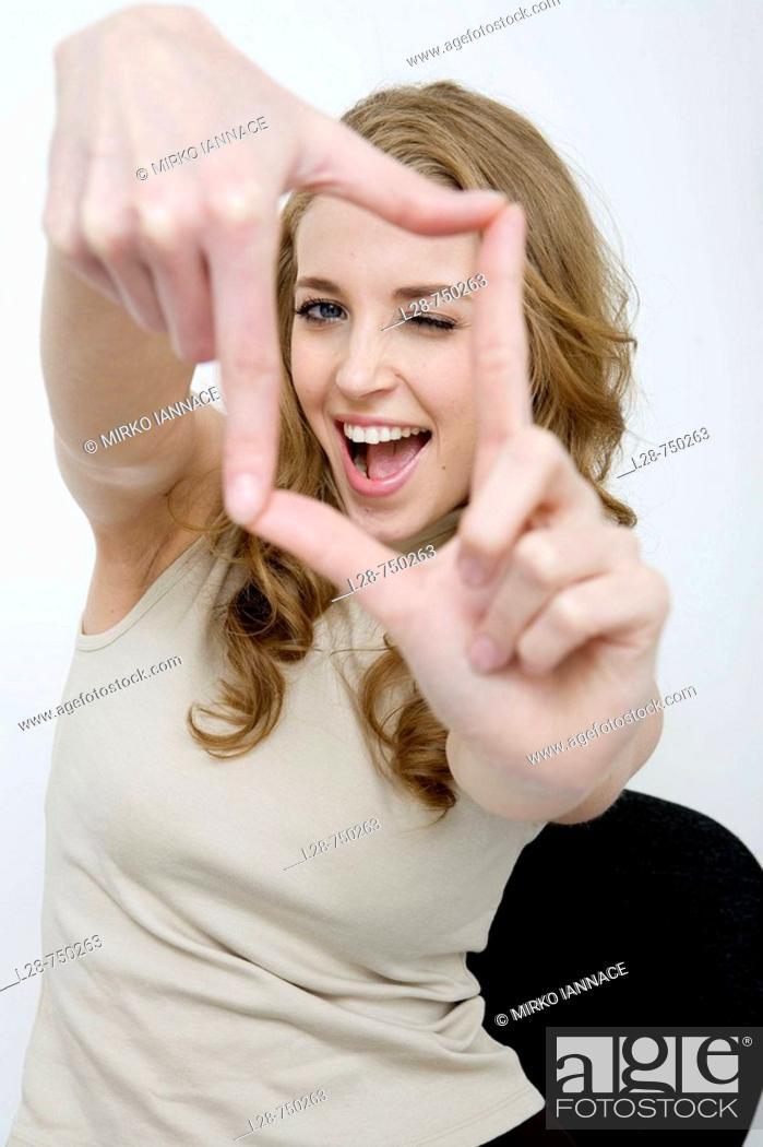 Stock Photo: business woman focus.