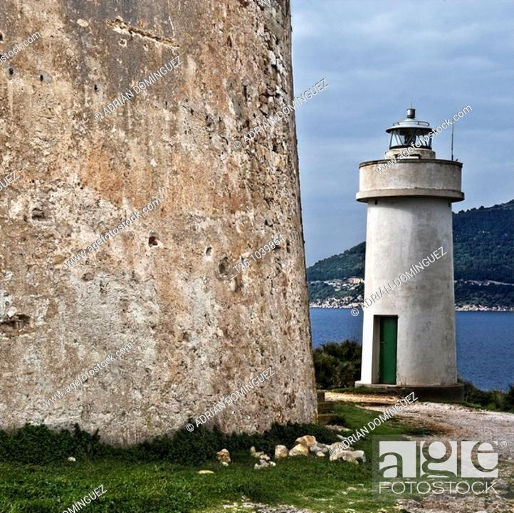 Stock Photo: Lighthouse in Sardinia, Italy,.