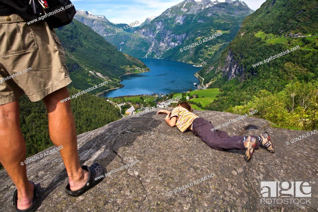 Stock Photo: Geiranger Fjord More & Romsdal. Norway.