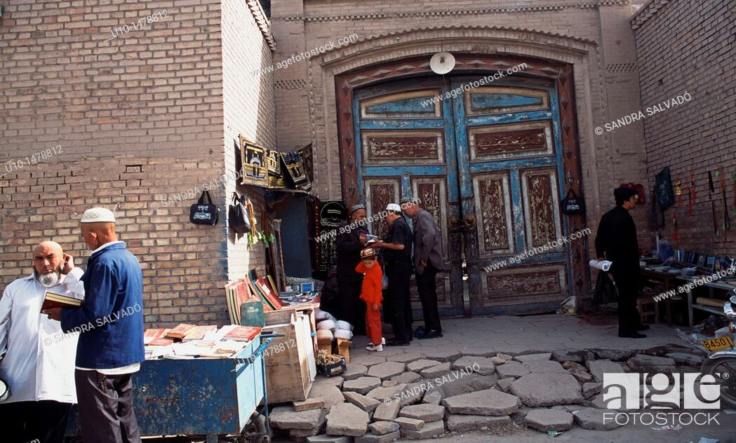 Stock Photo: Old city of Kashgar, Xinjiang.