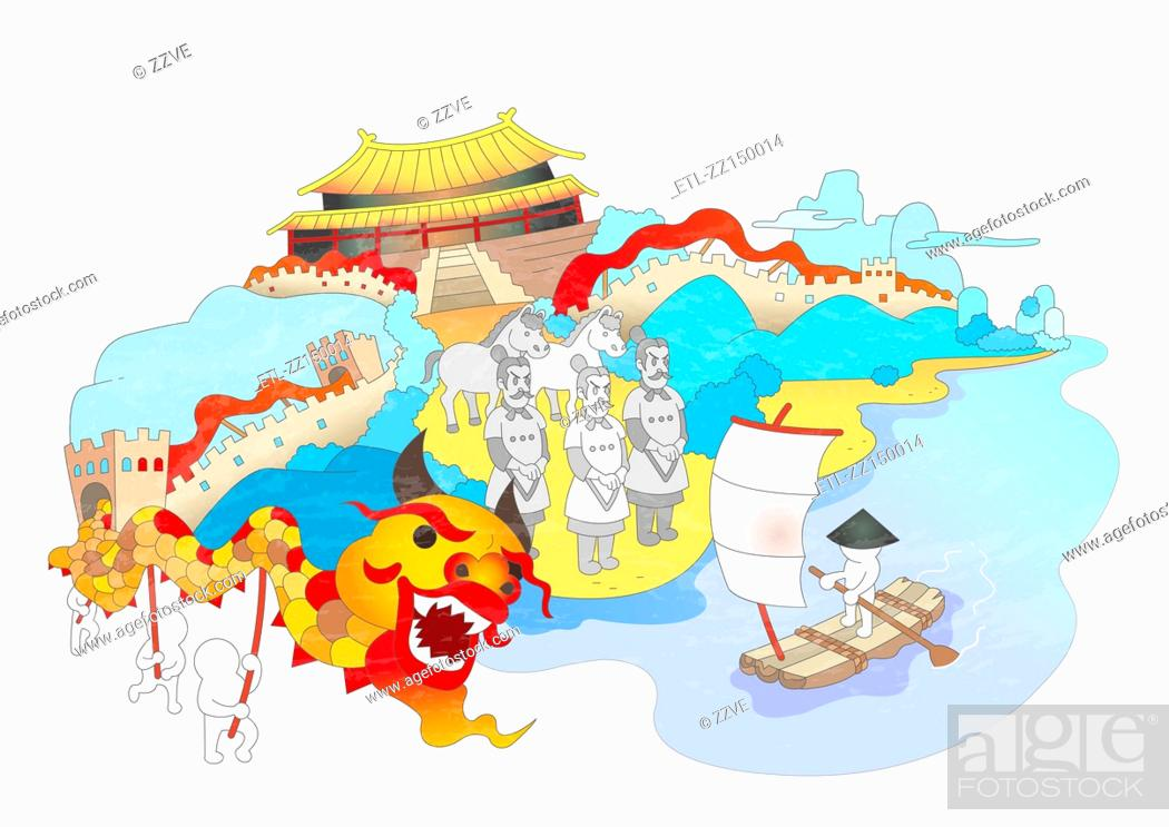 Stock Photo: Attractions of China.