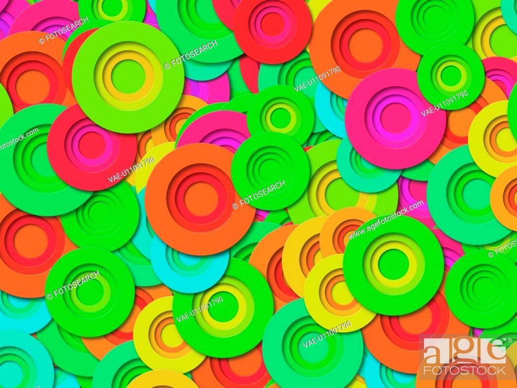 Stock Photo: Multi-Colored Circles.